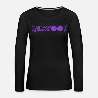 Motto Halloween pumpkins face scary spooky - Women's Premium Longsleeve Shirt