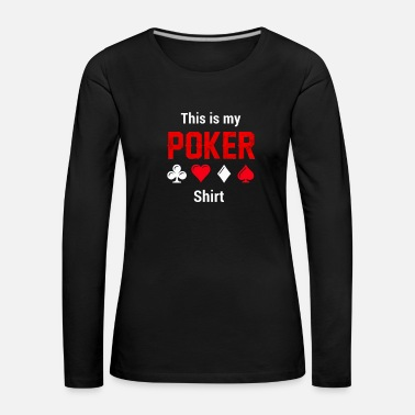 Cards Poker Card Game Cards Poker - Premium langermet T-skjorte for kvinner