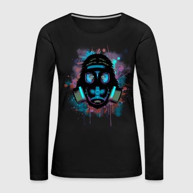 Urban Monkey with Gas mask Fallout - Women's Premium Longsleeve Shirt