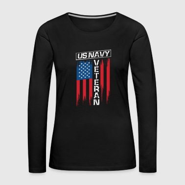 Navy Seals USA America flag gift idea - Women's Premium Longsleeve Shirt