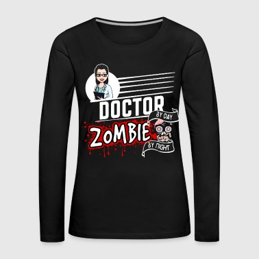 Female Doctor - Zombie by night - Frauen Premium Langarmshirt