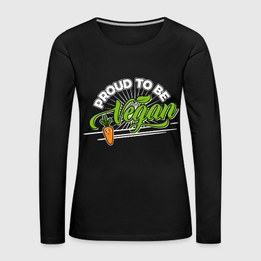 Image Vegan - Proud to be Vegan (Carrot) - Women's Premium Longsleeve Shirt