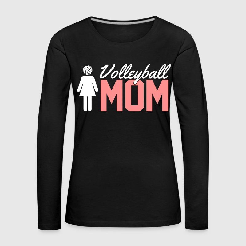 Volleyball Mom - T-shirt manches longues Premium Femme