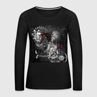 Stunning steampunk horse with wings - Women's Premium Longsleeve Shirt