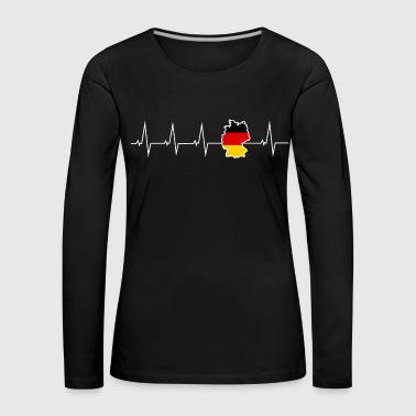 I love Germany - heartbeat - Women's Premium Longsleeve Shirt
