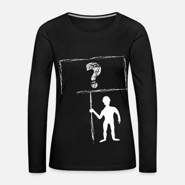 Question Mark Male with sign question mark vector gift - Women's Premium Longsleeve Shirt