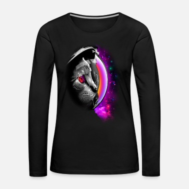 SPACECAT (CHOOSE BLACK FOR SHIRT) - Women's Premium Longsleeve Shirt