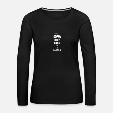 Meadow keep calm in a farmer white - Women's Premium Longsleeve Shirt