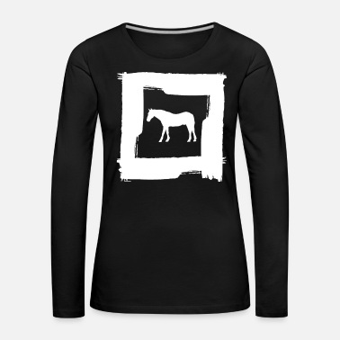 Plus Horse riding rider Horse riding pony - Women's Premium Longsleeve Shirt
