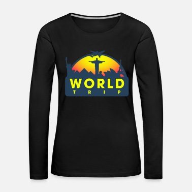 Paris World Travel Country Vacation Attractions Cool - Women's Premium Longsleeve Shirt