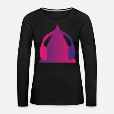 Pyramid Headphones Music Wave Pyramid - Women's Premium Longsleeve Shirt