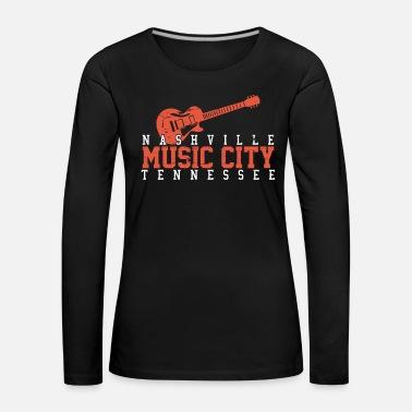 Country Music Nashville Tennessee - Country Music - Premium langermet T-skjorte for kvinner