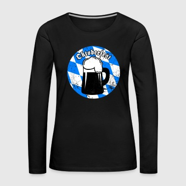 Belly Oktoberfest Mass Beer Blue White Beer Drinker - Women's Premium Longsleeve Shirt