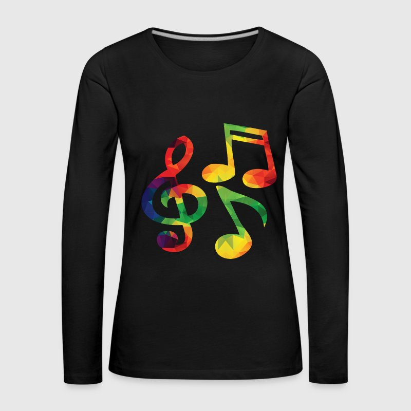 Colorful music notes - Women's Premium Longsleeve Shirt