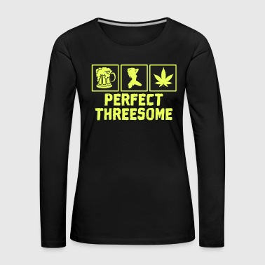 Adult Humor Novelty Graphic Sarcasm Funny T Shirt Perfect threesome - Women's Premium Longsleeve Shirt