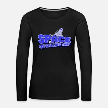 Planet Spaceship galaxy stars science gift - Women's Premium Longsleeve Shirt
