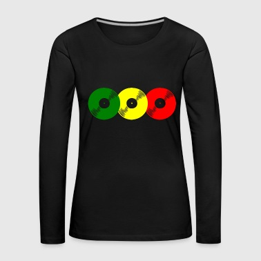 Reggae records - Women's Premium Longsleeve Shirt