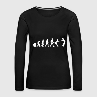 Evolution dancing dance couple music dance music - Women's Premium Longsleeve Shirt