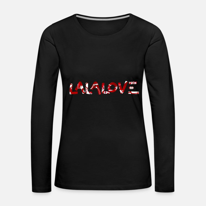 Love Long Sleeve Shirts - Lalalove - Women's Premium Longsleeve Shirt black