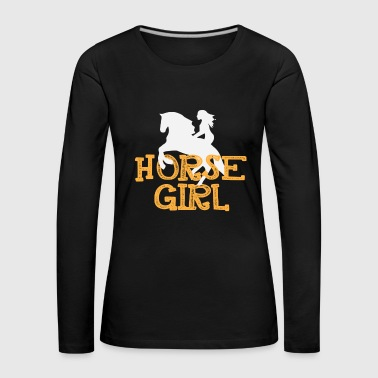 Funny Horse Riding Rider Pony Lover - Women's Premium Longsleeve Shirt