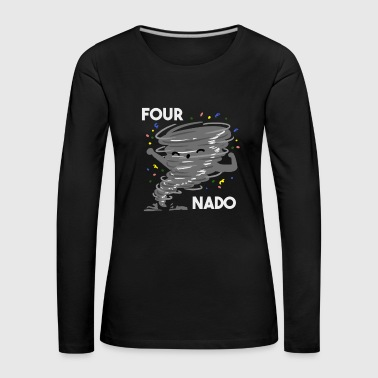 Boy Scouts 4th Birthday Four Boy Girl 4 Fournado Gift - Women's Premium Longsleeve Shirt