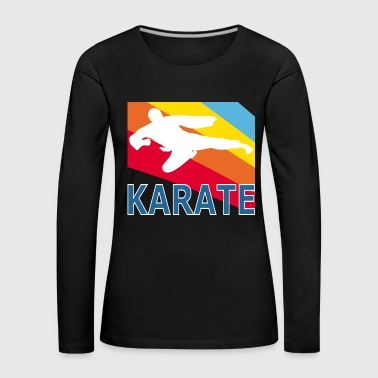 Retron Vintage Style Karate Martial Arts Fighter - Premium langermet T-skjorte for kvinner