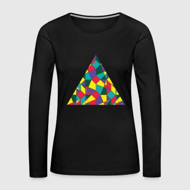 Colored Triangle - Women's Premium Longsleeve Shirt