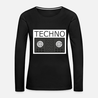 Blixt Techno Turntable - Långärmad premium-T-shirt dam