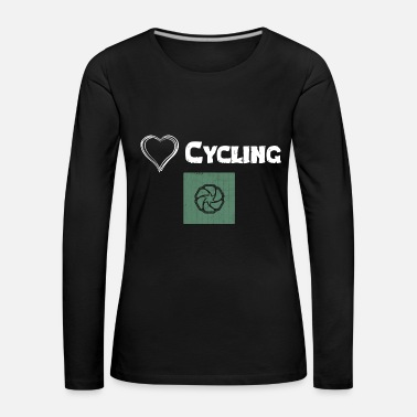Sella We Love Cycling - Design Premium - Maglietta Premium a manica lunga da donna