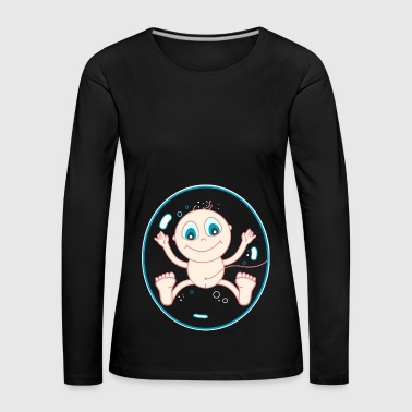 Baby in the womb - Women's Premium Longsleeve Shirt