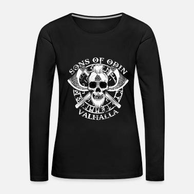 Anarchist SONS OF ODIN - VALHALLA - VIKINGS GIFTS - Women's Premium Longsleeve Shirt