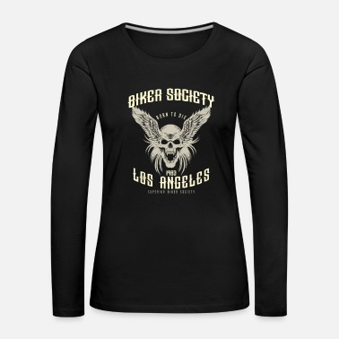 Angel Biker Shirt Biker Society Los Angeles 1983 Skull Wings classic look - Frauen Premium Langarmshirt