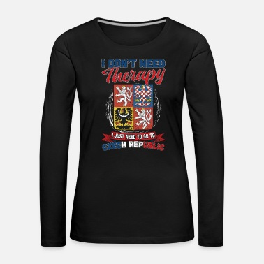 Patriot No therapy - only the Czech Republic - Women's Premium Longsleeve Shirt