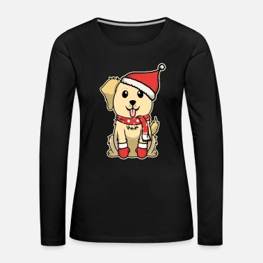 Dyrebarn Animal child retriever hund sød jul vinter - Dame premium T-shirt med lange ærmer