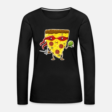 Ninja Pizza eats turtle - Women's Premium Longsleeve Shirt