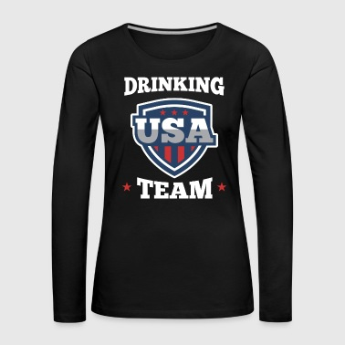 Bachelor Party USA Drinking Team Beer Party Wear Gift - Women's Premium Longsleeve Shirt