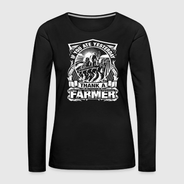 Farmers Wife Thank A Farmer Tshirts - Women's Premium Longsleeve Shirt