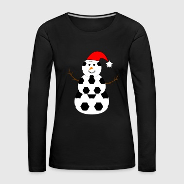 FOOTBALL SNOWMAN TEAM ASSOCIATION GIFT - Women's Premium Longsleeve Shirt