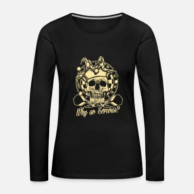 Joker Dart Skull Dartboard Team Player Gift - Women's Premium Longsleeve Shirt