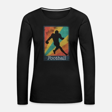 Kicker Runningback Football Polaroid - Frauen Premium Langarmshirt