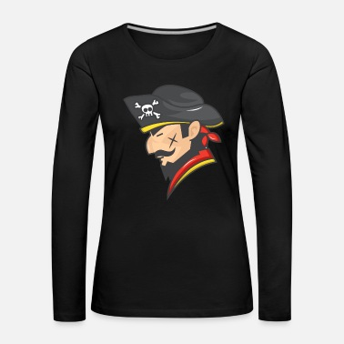 Pirate Flag Pirate pirate head sailor lake gift - Women's Premium Longsleeve Shirt