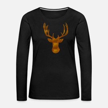 Deer Head Deer - Women's Premium Longsleeve Shirt