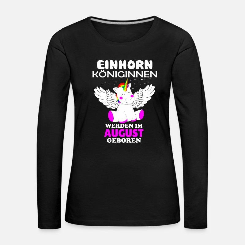 Einhorn Königinnen Im August Geboren Frauen Premium T-Shirt