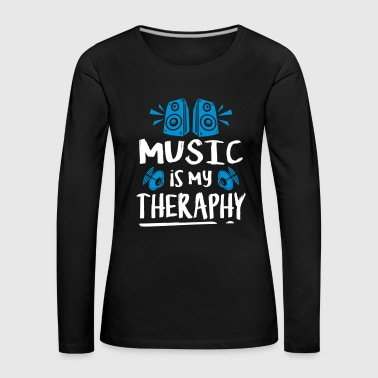 music is my theraphy - Frauen Premium Langarmshirt
