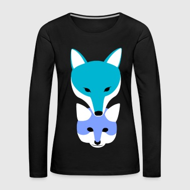 Fox for father-son cute family collection - Women's Premium Longsleeve Shirt
