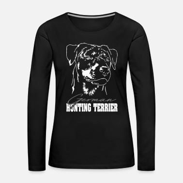 Original TERRIER DE CHASSE ALLEMAND Wilsigns Hound Gift - T-shirt manches longues Premium Femme