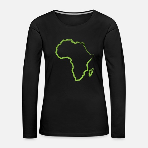 Green Africa Gift Idea Outline Map African Womens Premium