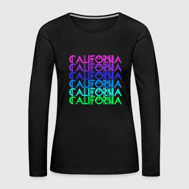 Hollywood California summer surfing beach life USA colorful - Women's Premium Longsleeve Shirt