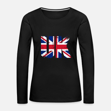Tower Inghilterra Regno Unito UK Flag Country London - Maglietta Premium a manica lunga da donna