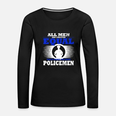 Official Person Police Policeman Policewoman Handcuffed Occupation - Women's Premium Longsleeve Shirt